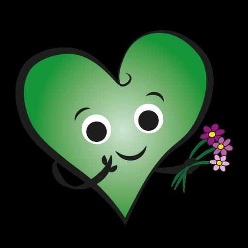 Hjärta med blommor